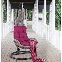 Кресло  - качеля  плетеная  96х96х198см , бежевая