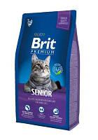 Корм для котов Brit Premium Cat Senior 8 кг (для пожилых кошек)