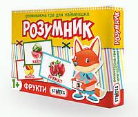 """Игра """"Маленький розумник: фрукты"""", в кор. 28*19,5*3см, произ-во Украина, ТМ Стратег (12шт)(409S)"""