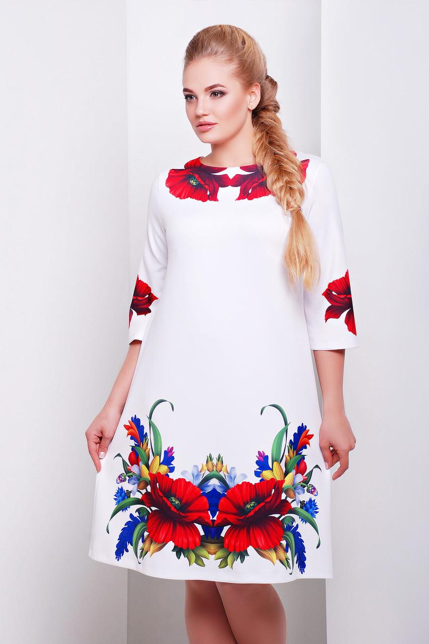 Маки платье Тая-2Б д/р, XL, XXL - Beauti в Харькове