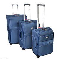 Набор чемоданов на колесах Sanjerly 3 в 1 - синий