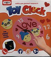 """Набор для творчества """"Toy clock - Любовь"""", в кор. 21,7см*24см*5см пр. Украина, ТМ Стратег (12шт)(16S)"""