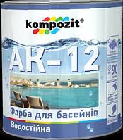 Краска для бассейнов АК-12 Композит голубая, 10кг