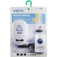 Беспроводной звонок VOYE V025A AC: радиус 100 м, мощность 2 Вт, питание сеть/батарейка 12В
