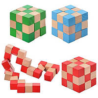 Головоломка Кубик-змейка, материал - ДЕРЕВО!