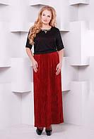 Красивое длинное  бордовое    платье Баден   ТМ Таtiana 54-60  размеры