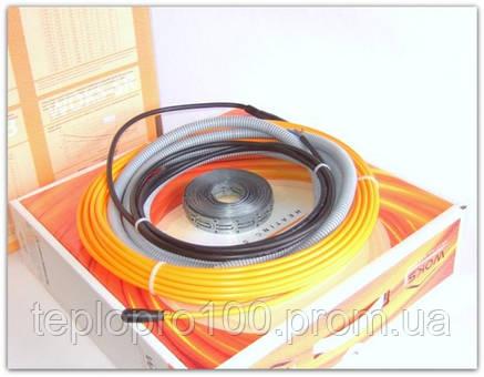 Теплый пол электрический-Двухжильный тонкий кабель под плитку Woks 10-150 (1,0-1,2м2), фото 2