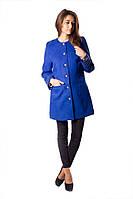 Пальто женское синего цвета