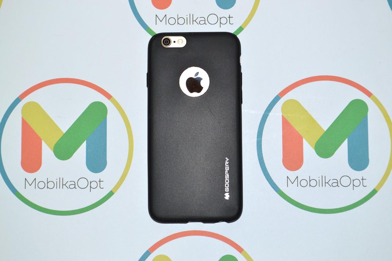 Чехол силиконовый на iPhone 6/6s GOOSPERY черный