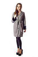 Пальто утепленное серого цвета