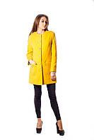 Пальто женское оранжевого цвета