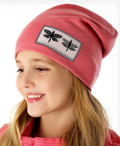 Демисезонная однослойная шапочка для девочки от Marika Польша, фото 2