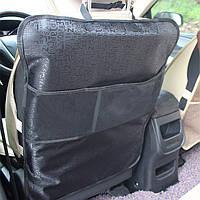 Защитный чехол на спинку переднего сиденья с карманом 70*50 см Черный (04031)