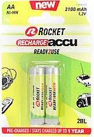 Батарейки аккумуляторы Rocket R6 AA (2100 mAh), 2 шт. в упаковке