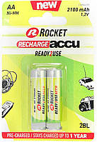 Батарейки аккумуляторы Rocket R6 AA (2100 mAh), 2 шт. в упаковке AK4003836