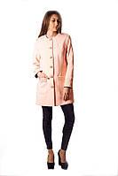 Пальто женское розового цвета