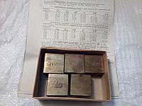 Стандартные образцы для спектрального анализа бронза типа БрОЦС 4-4-4  Комплект№66