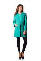 Пальто женское бирюзового цвета