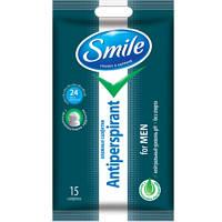 Smile Влажные салфетки антиперспирант с натуральными экстрактами для мужчин 15шт.
