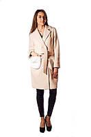 Пальто теплое розового цвета