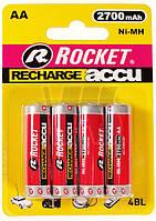 Батарейки аккумуляторы Rocket R6 AA (2700 mAh), 4 шт. в упаковке