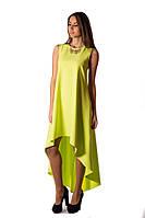Платье вечернее лимонного цвета