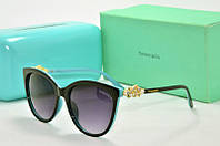 Солнцезащитные очки Tiffany Go черные с голубым