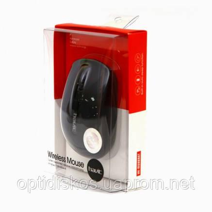 Беспроводная оптическая мышь HAVIT HV-M989GT, Wireless USB, черная, фото 2
