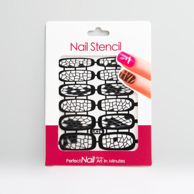 Трафарет для дизайна ногтей,черный