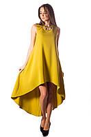 Платье вечернее жёлтое