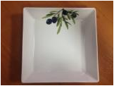 "Тарелка глубокая 22*22 см Lubiana ""Classic olive"" LB-2521(6154)"