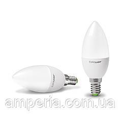 EUROLAMP LED Лампа ЕКО Свеча 6W E14 3000K (LED-CL-06143(D))