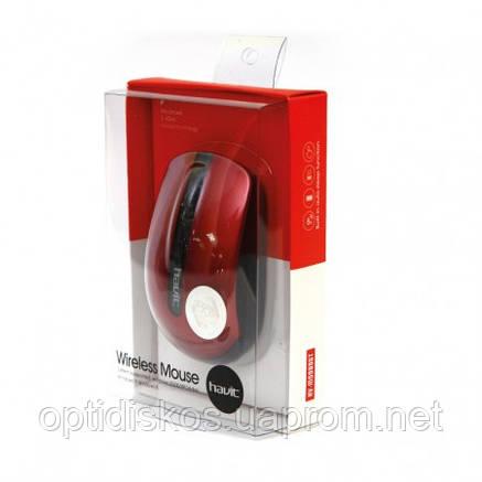 Беспроводная оптическая мышь HAVIT HV-M989GT, Wireless USB, красная, фото 2