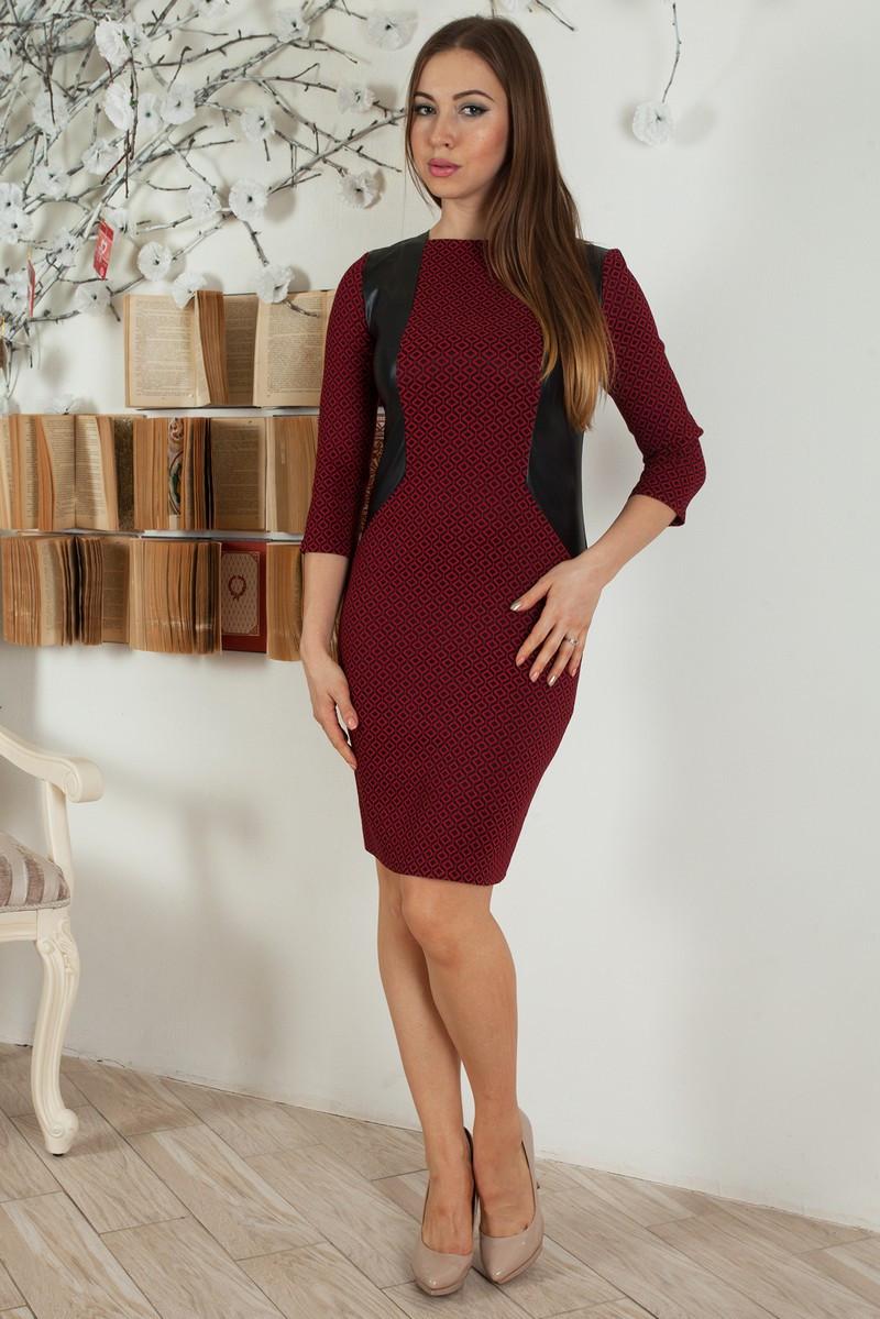 Приталенное женское платье из стрейчевого жаккарда