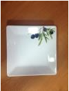 "Тарелка пирожковая 15*15см Lubiana ""Classic olive""  LB-2556(6154)"