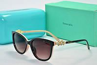 Солнцезащитные очки прямоугольные Tiffany Go черные с бежевым, фото 1