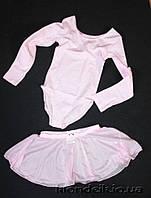 Юбка для танцев Danskin 3-4,4-5, 6-7,7-8,8-9, 10-12 лет  США с розочкой черная