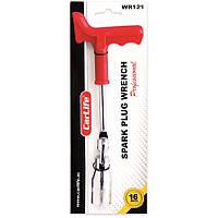 Ключ свечной на 16 CarLife усилен пластик ручка (WR121)