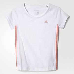 Детская футболка для девочек adidas essentials 3-stripes (артикул: AY8308)