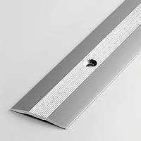 Алюминиевый порожек для пола, плоский ширина 40 мм., фото 1