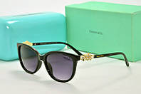 Солнцезащитные очки прямоугольные Tiffany Go черные