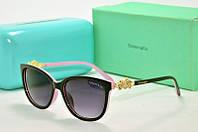 Солнцезащитные очки прямоугольные Tiffany Go черные с розовым, фото 1