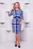 Женское платье Тэйлор голубая клетка (52-58)