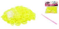 Резиночки для плетения (550 рез.), цвет желтый, в пак. 15*10см (480шт)(JX20000ЖЕЛТЫЙ)