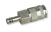 Быстроразъёмная латунная муфта 10 мм, с соединением для шланга 10 мм