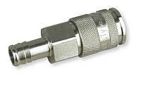 Быстроразъёмная латунная муфта 10 мм, с соединением для шланга 13 мм