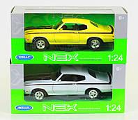 """Машина Welly, """"Buick 1970 GSX"""", метал., масштаб 1:24, в кор. 23*11*10см (6шт)(22433W)"""