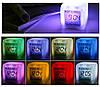Электронные настольные часы с термометром LED Color Changing Glowing Alarm Thermometer Digital Clock, фото 4