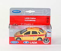"Машина Welly,""LADA KALINA"" техпомощь, метал., в кор. 15*6*6см (36шт)(42383TA)"