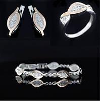Гарнитур серебряный , фото 1